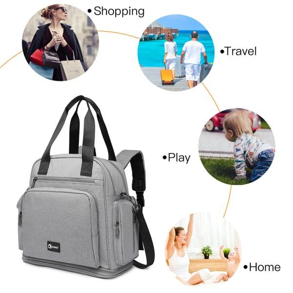 EG6930 - Kono Multi Way Travel Baby Changing Bag - Grey