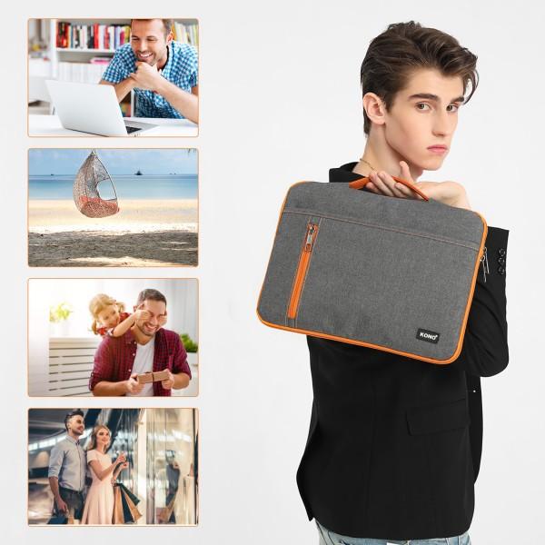 EQ2029 - Kono Structured Slim 13.5 inch Laptop Sleeve - Grey