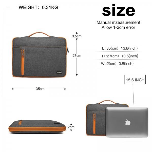 EQ2029 - Kono Structured Slim 15.6 inch Laptop Sleeve - Grey