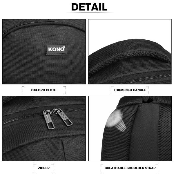 EQ2042 - Kono Classic Practical Backpack - Black