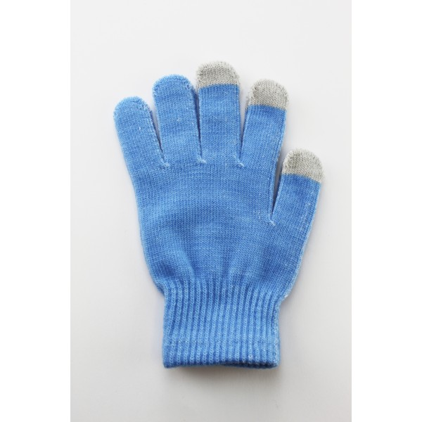 Unisex Touch Screen Gloves Light Blue