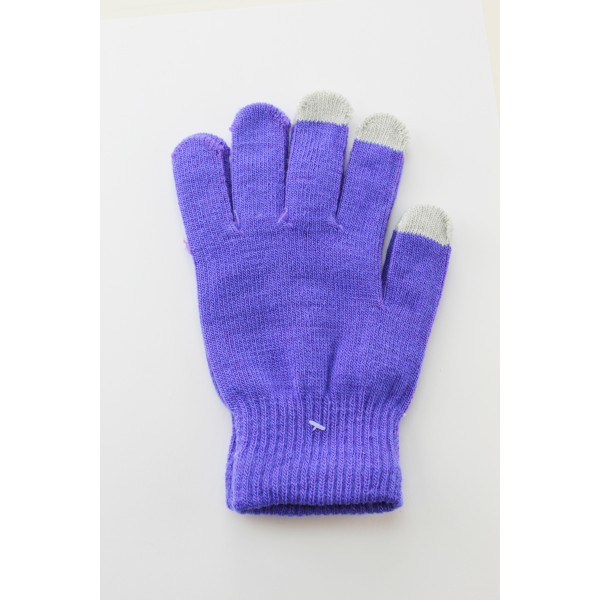 Unisex Touch Screen Gloves Purple