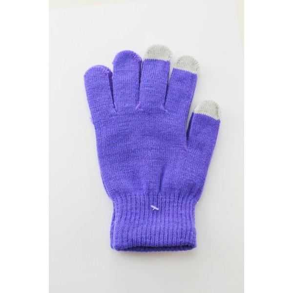 Unisex Touch Screen Gloves Purple