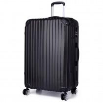 K1771L- KONO equipaje maleta maleta fija negro 20 pulgadas