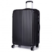 K1771L- KONO hard shell suitcase luggage set black 28 inch