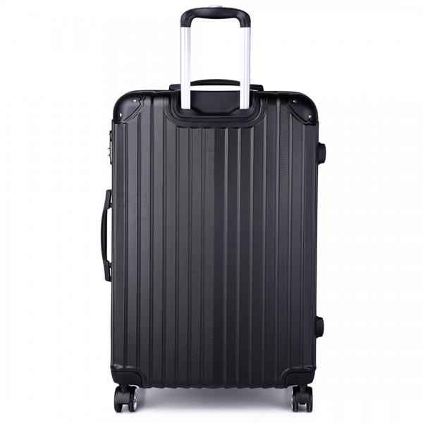 K1771L- KONO hard shell suitcase luggage set black 24 inch