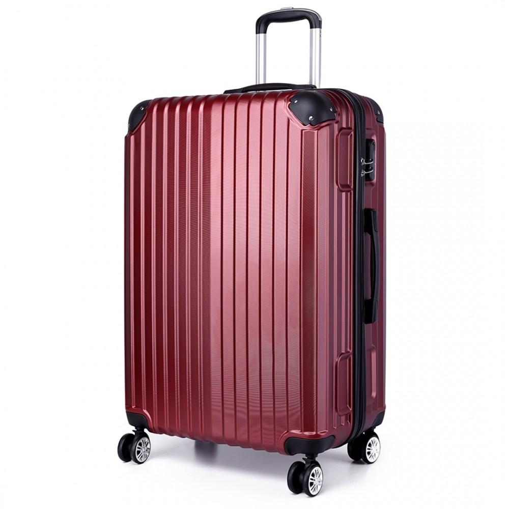 K1771L KONO valise rigide valise à bagages bordeaux 20 pouces