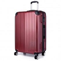 K1771L- KONO maleta de equipaje de cáscara dura borgoña 20 pulgadas