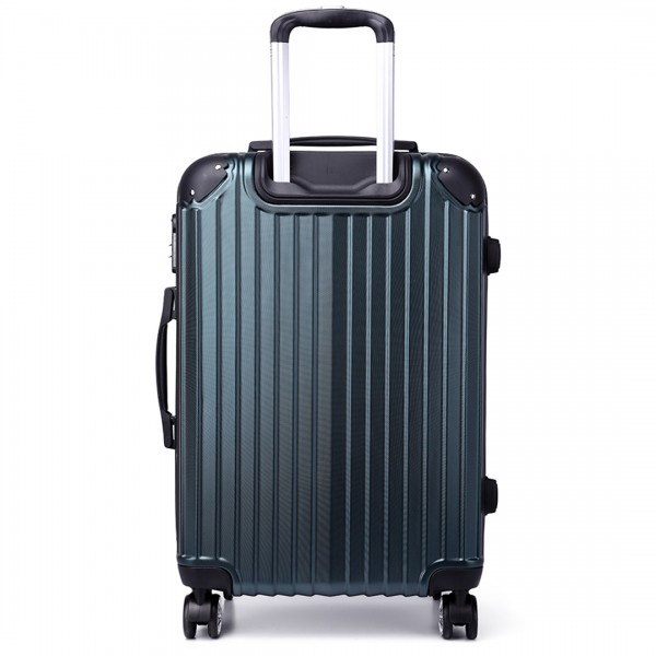 K1771L - Kono Hard Shell Suitcase 3 Piece Luggage Set Green