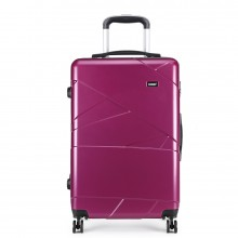 K1772-1L - Kono 20 Inch Bandage Effect Hard Shell Suitcase - Purple