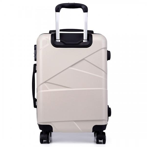 "K1772-2L - Kono 20-24-28"" Bandage Effect Hard Shell Suitcase - Beige"
