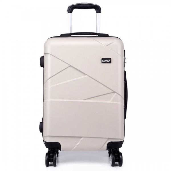 K1772-2L - Kono 28 Inch Bandage Effect Hard Shell Suitcase - Beige