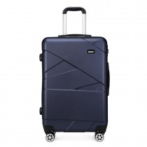 K1772-2L --Kono 28 Inch Bandage Effect Hard Shell Suitcase --Navy