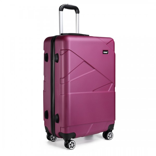 K1772-2L - Kono 28 Inch Bandage Effect Hard Shell Suitcase - Purple