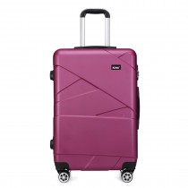 K1772-2L --Kono 24 Inch Bandage Effect Hard Shell Suitcase --Purple