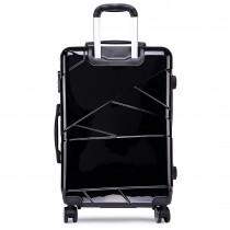 K1772L - Kono Bandage Effect Hard Shell 3 Piece Luggage Set Black