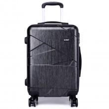 K1772L-Kono Bandage Effect Hard Shell Suitcase 20 Inch Luggage Set Grey