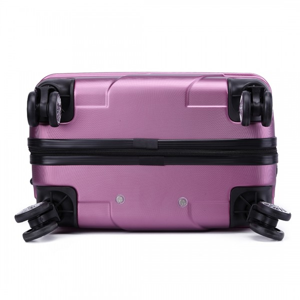 K1772L-Kono Bandage Effect Hard Shell Suitcase 20 Inch Luggage Set Purple.
