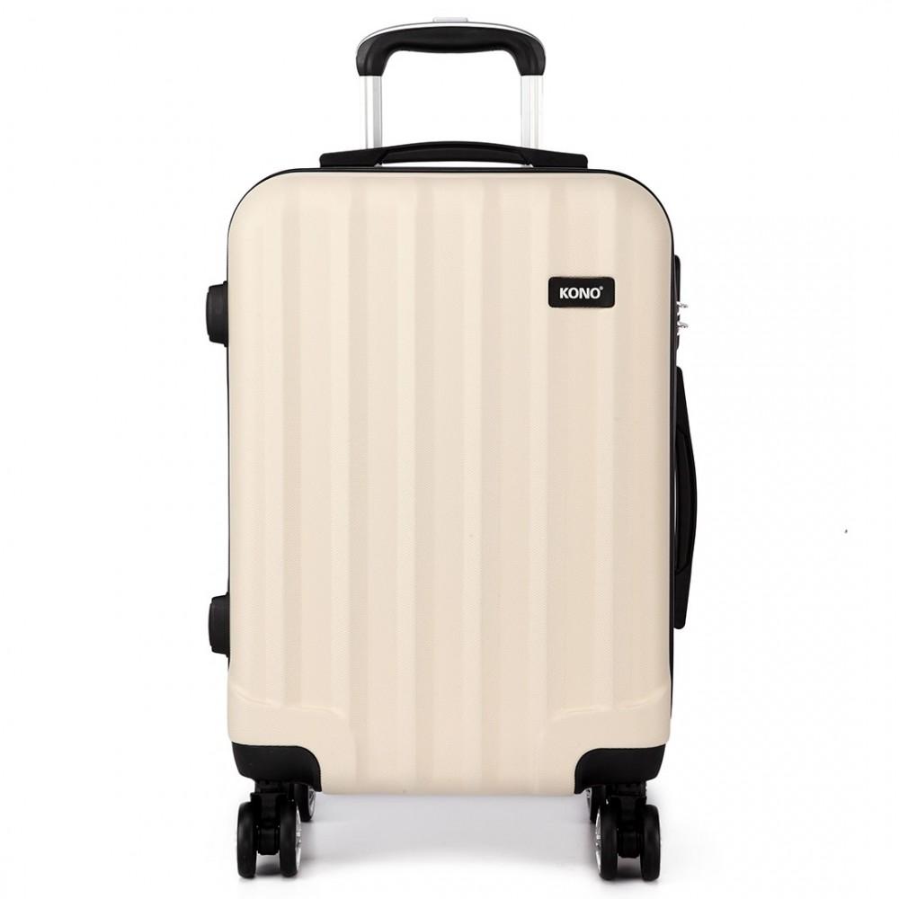 k1773l kono vertical stripe hard shell 3 piece luggage. Black Bedroom Furniture Sets. Home Design Ideas