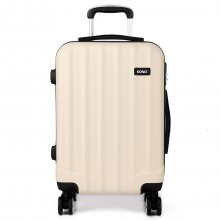 K1773L - Kono Vertical Stripe Hard Shell Suitcase 28 Inch Luggage Set Beige