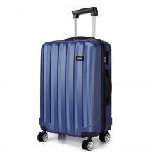 K1773L - Kono Vertical Stripe Hard Shell Suitcase 19 Inch Luggage Set Navy