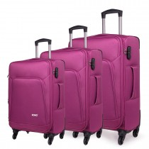 K1774L-KONO Expandable Suitcase Lightweight  4 Wheel Luggage Travel Spinner TrolleyCase purple