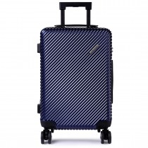 K1775L - Shavont Deluxe Hard Shell 20'' Cabin Size Luggage Navy