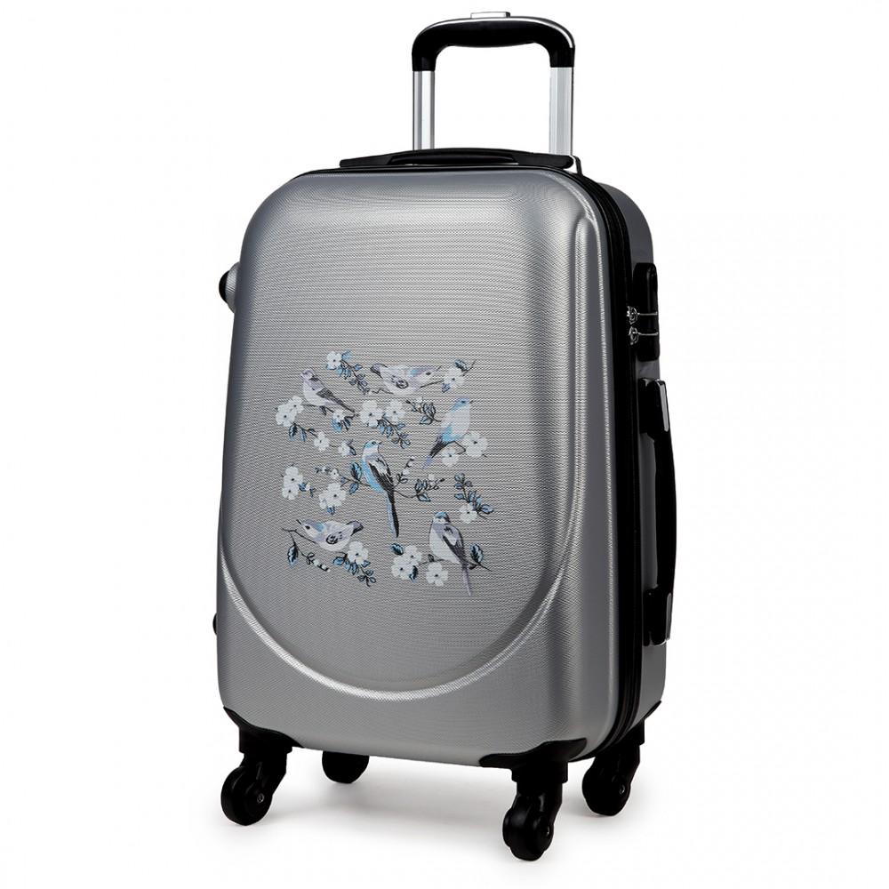 k1776 16j gy 20 hard shell 4 wheel spinner suitcase abs. Black Bedroom Furniture Sets. Home Design Ideas