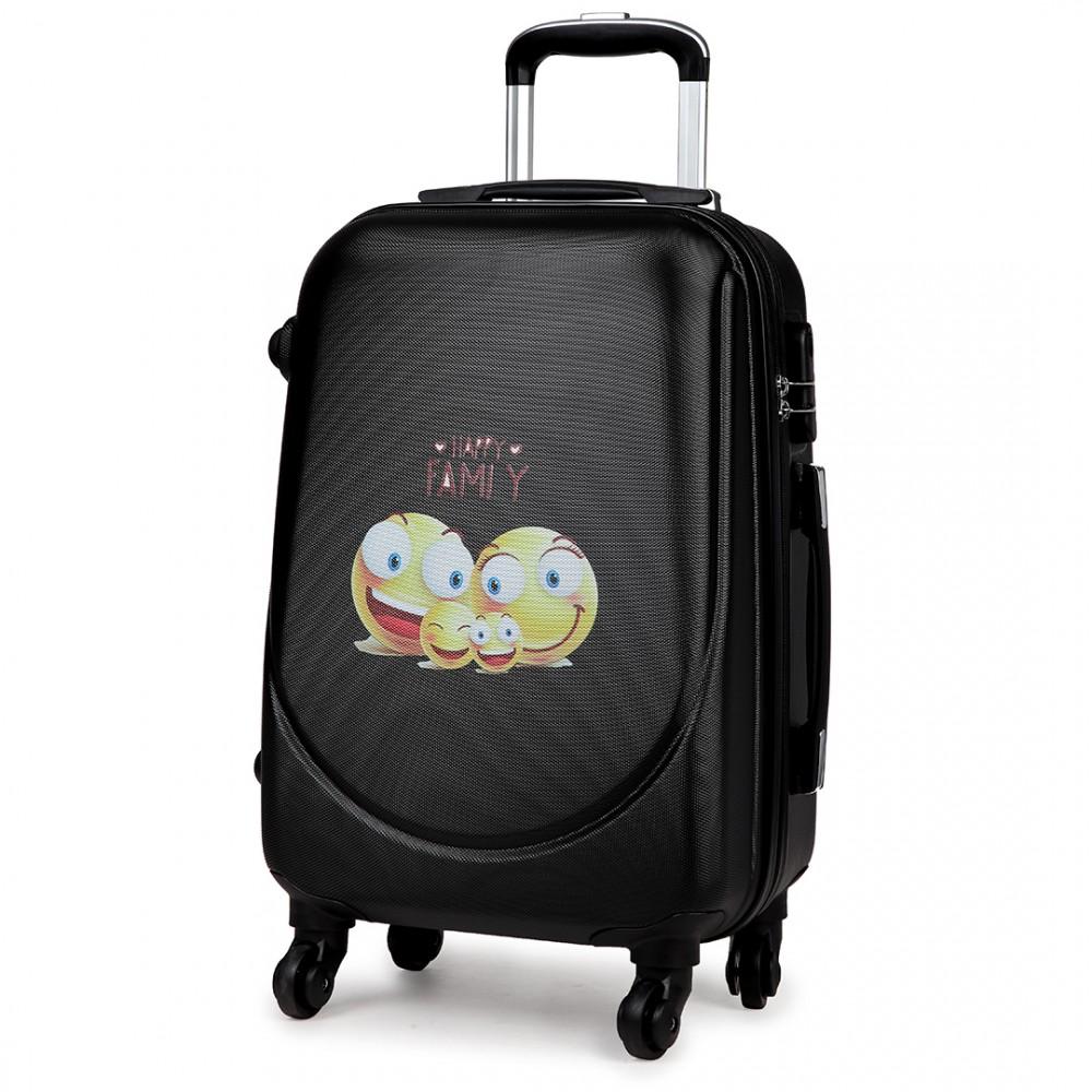 k1776 sf bk 20 hard shell 4 wheel spinner suitcase abs. Black Bedroom Furniture Sets. Home Design Ideas