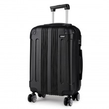 K1777 - Kono 19 Inch ABS Hard Shell Suitcase Luggage - Black