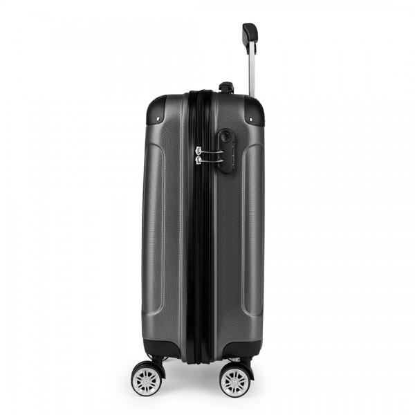 K1777 - Kono 19 Inch ABS Hard Shell Suitcase Luggage - Grey