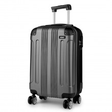 K1777 - Kono 19 Inch ABS Hard Shell Suitcase Luggage - Grey