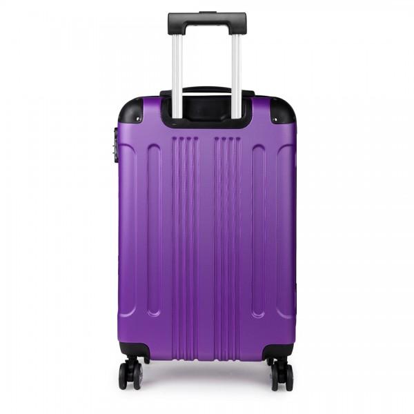K1777 - Kono 19 Inch ABS Hard Shell Suitcase Luggage - Purple