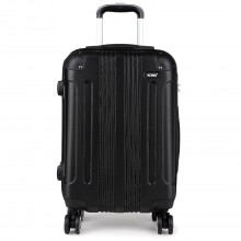 "K1777-20"" Kono ABS Hard Shell Suitcase Luggage Set Black"