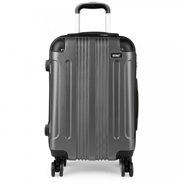 "K1777 - 28"" Kono ABS Hard Shell Suitcase Luggage Set - Grey"