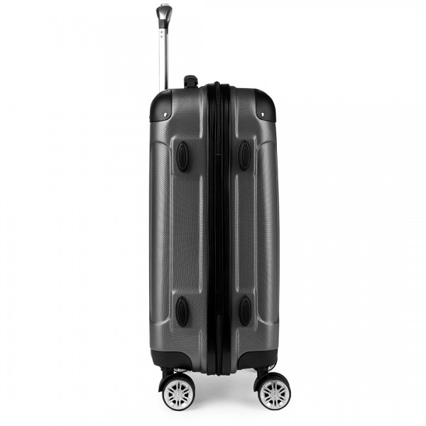 "K1777 - 24"" Kono ABS Hard Shell Suitcase Luggage Set - Grey"