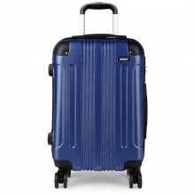 "K1777-20"" Kono ABS Hard Shell Suitcase Luggage Set Navy"