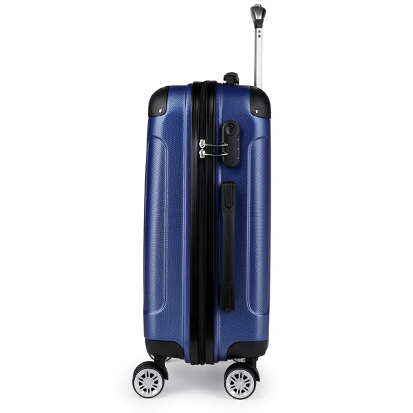 "K1777-28"" Kono ABS Hard Shell Suitcase Luggage Set Navy"