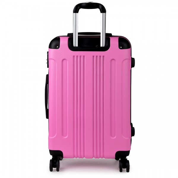 "K1777-20"" Kono ABS Hard Shell Suitcase Luggage Set Pink"