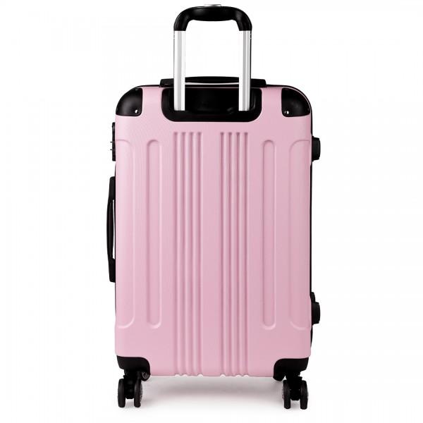 "K1777-24"" Kono ABS Hard Shell Suitcase Luggage Set Pink"