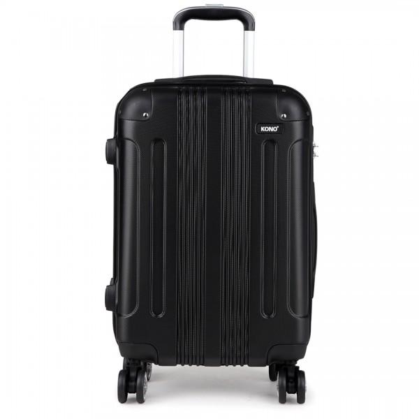 K1777 - Kono 20 Inch ABS Hard Shell Suitcase Luggage - Black