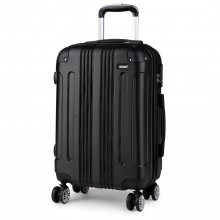 K1777 - Kono 20 Inch ABS Hard Shell Suitcase Luggage - Black