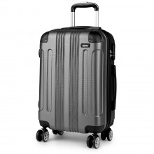 K1777 - Kono 20 Inch ABS Hard Shell Suitcase Luggage - Grey