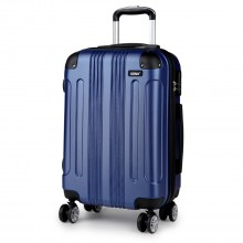 K1777 - Kono 20 Inch ABS Hard Shell Suitcase Luggage - Navy