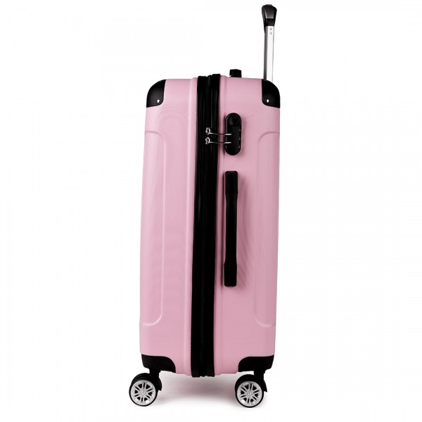 K1777 - Kono 24 Inch ABS Hard Shell Suitcase Luggage - Pink