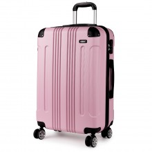 K1777 - Kono 28 Inch ABS Hard Shell Suitcase Luggage - Pink