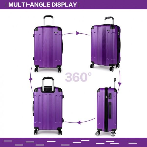 K1777 - Kono 20 Inch ABS Hard Shell Suitcase Luggage - Purple