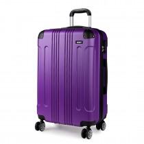 K1777 - Kono 20 Inch ABS Hard Shell Walizka Bagaż - Purple