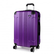 K1777 - Kono 20 Inch ABS Hard Shell Suitcase Luggage - Purple