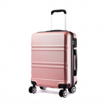 K1871-1L - Kono ABS Wyprofilowane poziome wzornictwo 20-calowy bagaż kabinowy - nago